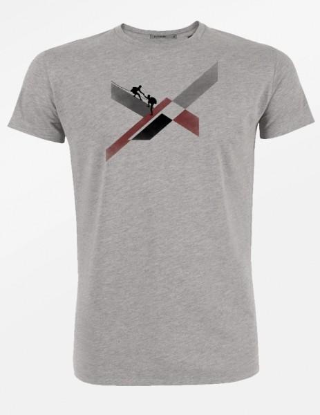 T-Shirt mit Druck, hellgrau, Stadelmann Natur