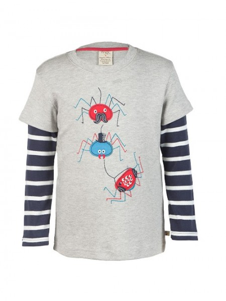 "Kindershirt ""Spiders"", grau 1 Stadelmann Natur Online Shop"