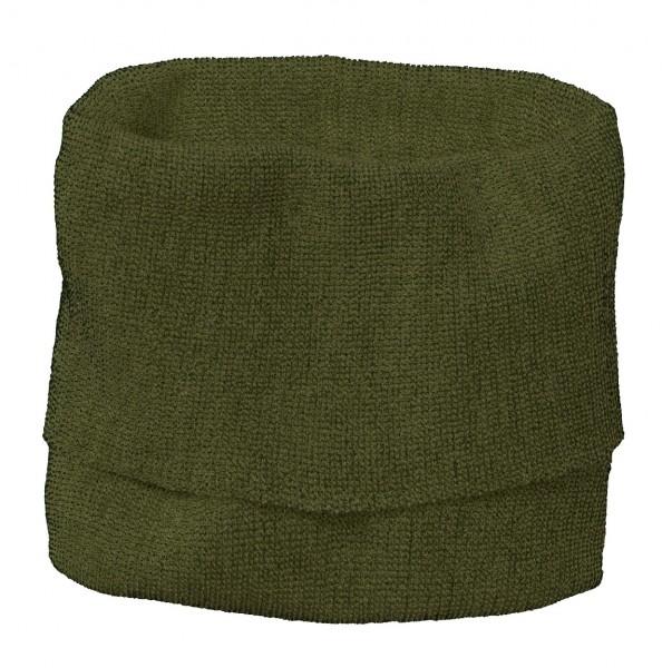 Schauch-Schal für Kinder, oliv-anthrazit von Disana