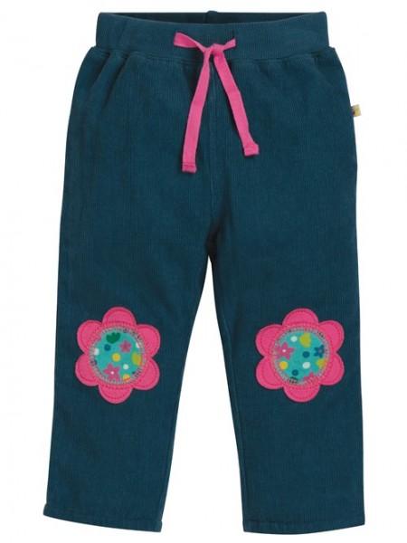 """Cordhose """"flower patches"""", blau/pink 1 Stadelmann Natur Online Shop"""