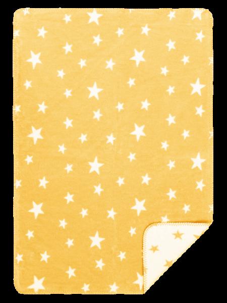 Baby Baumwolldecke, honig/Sterne, 100% BioBaumwolle von Richter