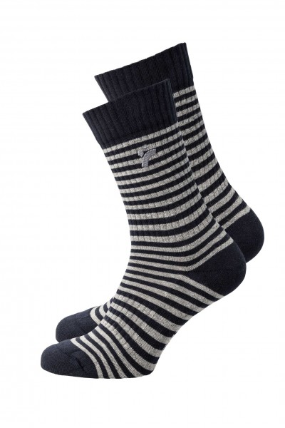 "Socken Classic ""Stripes"", navy/grey 1 Stadelmann Natur Online Shop"