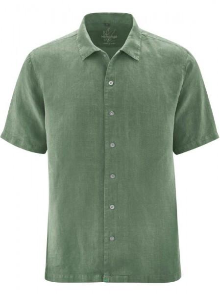 Kurzarmhemd aus 100% Hanf, oliv, HempAge