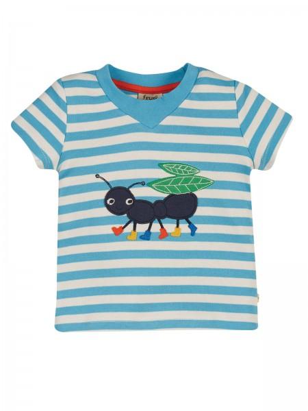 Gestreiftes Shirt mit Ameise-Aufdruck von Frugi 1