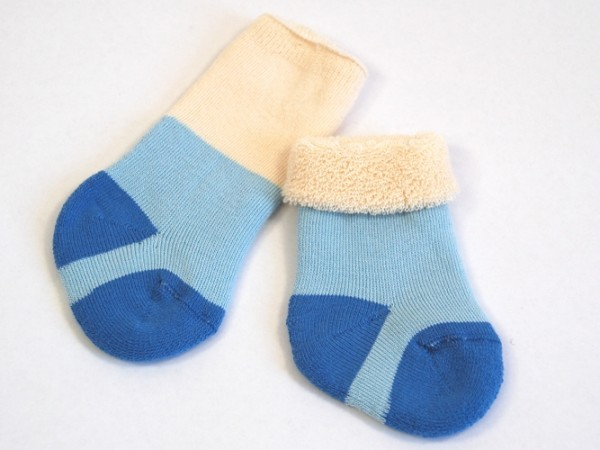 Babysocken blau grödo